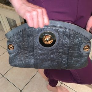 Gussto Bags - Gussto- clutch. Navy almost black